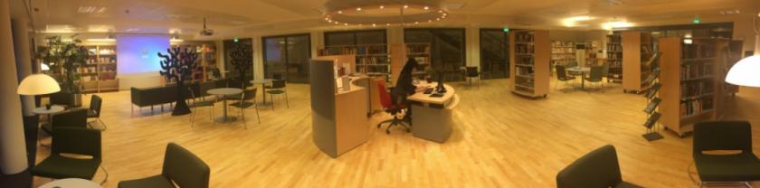 Interiör i skolbiblioteket på Västra skolgatan 2
