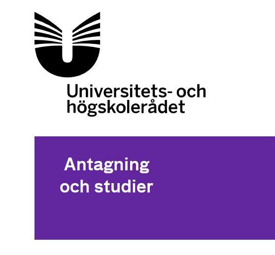 högskola ansökan hösten 2019